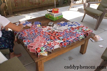 card houses, m and t soccer in backyard 015